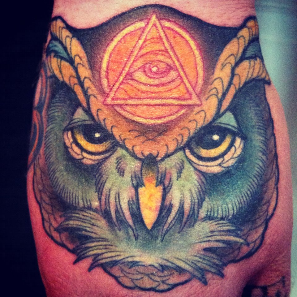 Owl and Illuminati Tattoo