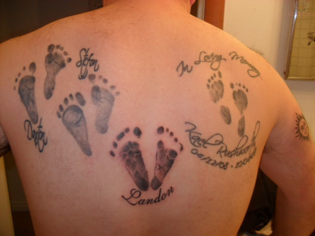 Pictures of Footprint Tattoos