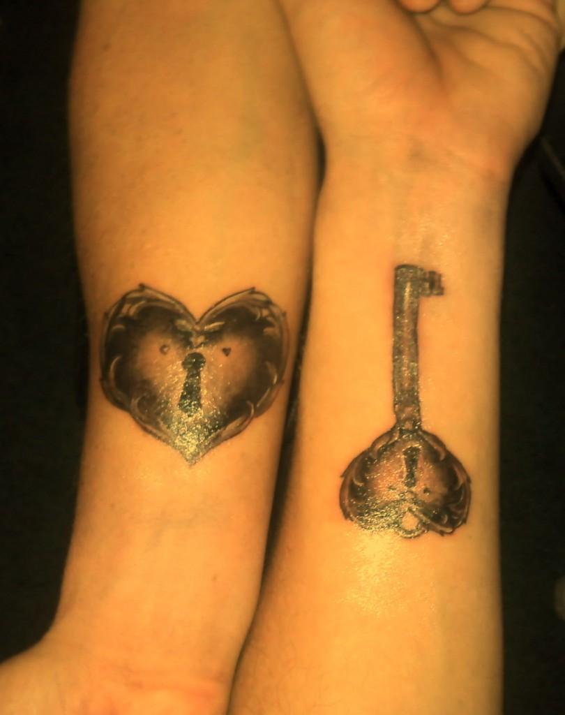 Slot lock tattoo