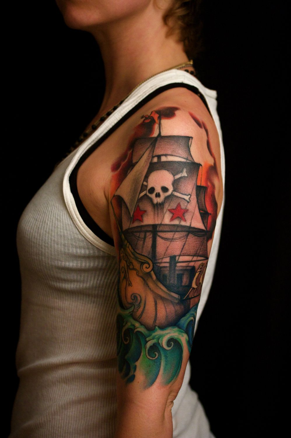 New School Pin Up Tattoo Pirate Tattoos Designs...