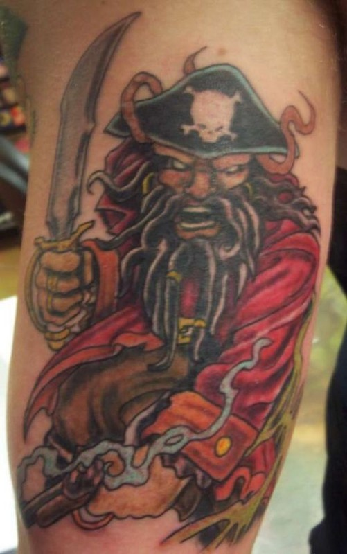 Pirate tattoos designs ideas and meaning tattoos for you for Pirate tattoo meaning