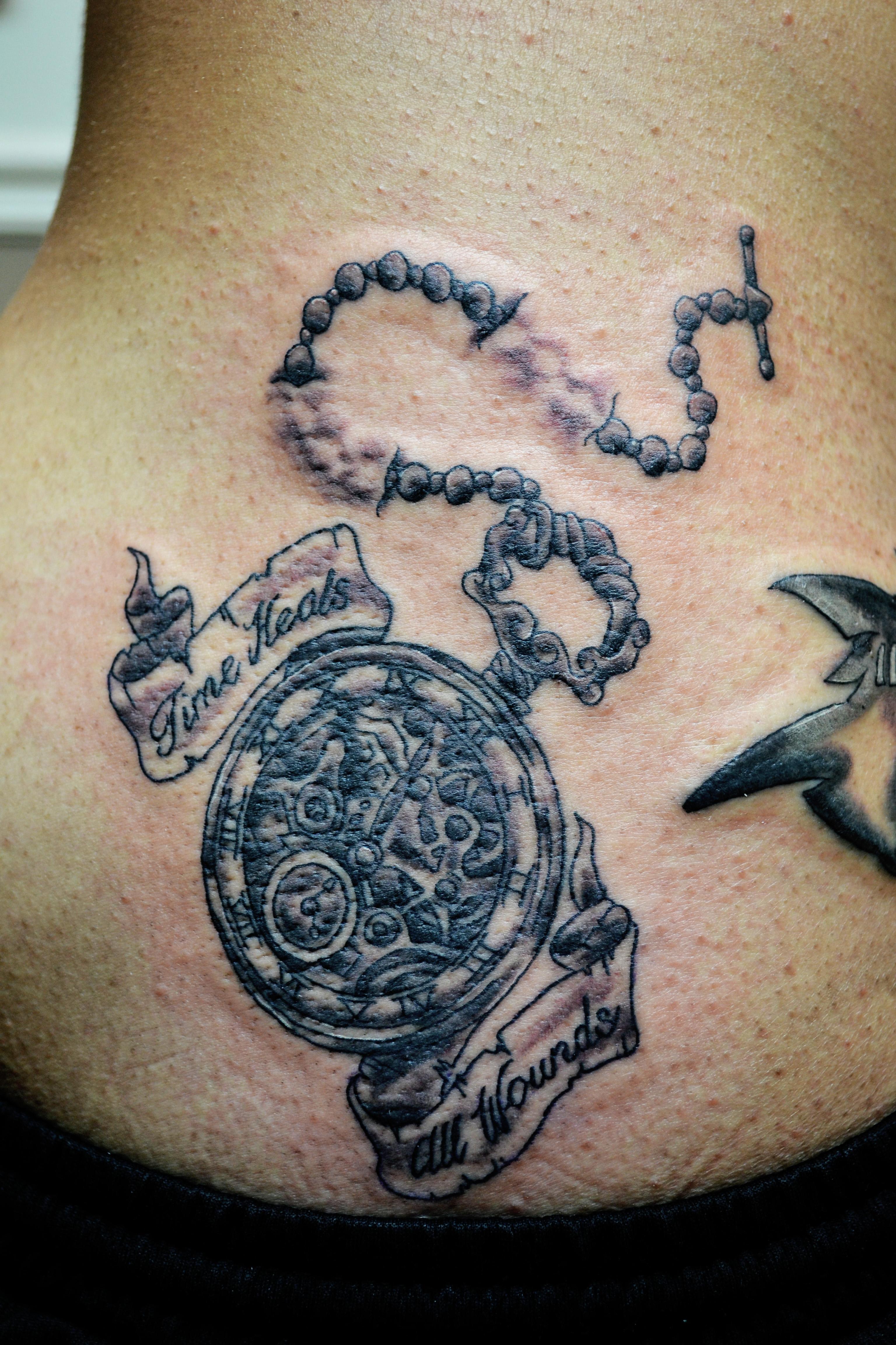 Timepiece Tattoo Design