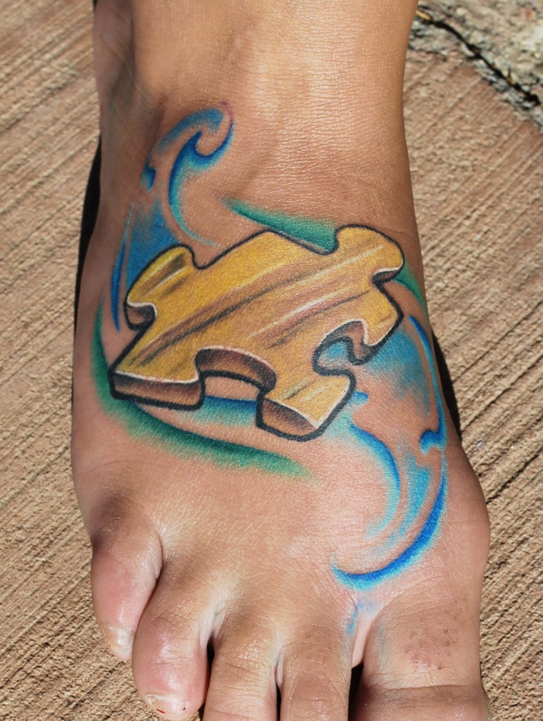 Puzzle Piece Tattoos Gallery