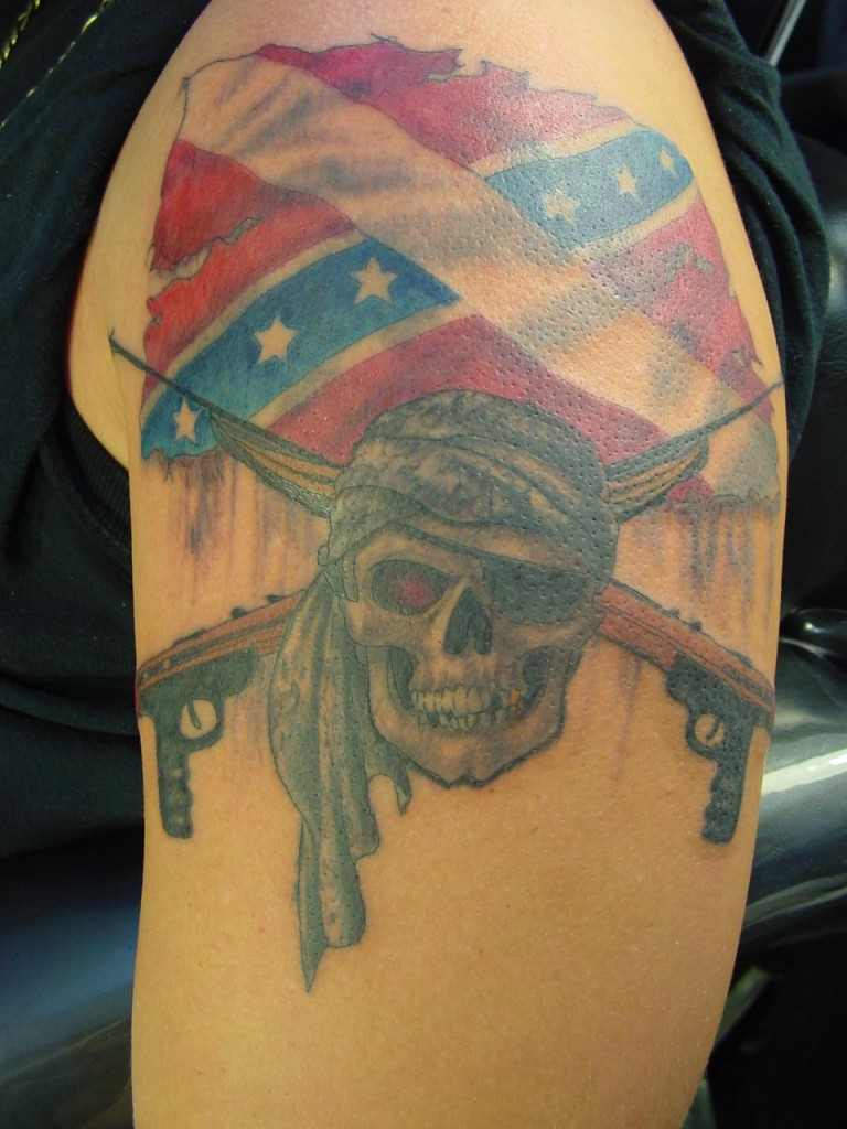 The design: Choice Confederate flag tattoo ideas