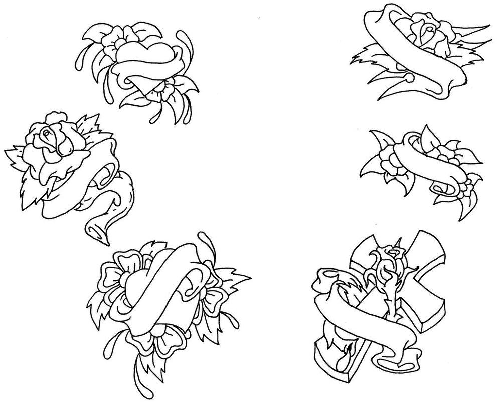 Name Ribbon Tattoo Design