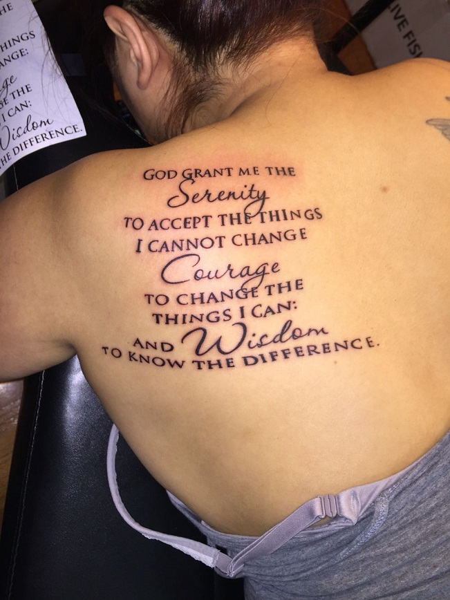 Serenity Prayer Tattoos Designs, Ideas and Meaning   Tattoos For You