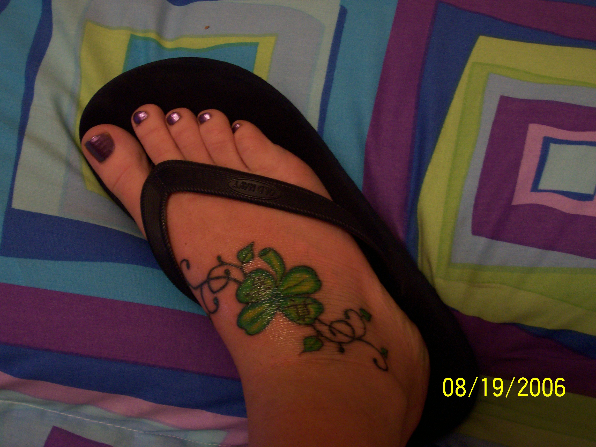 Shamrock tattoos designs ideas and meaning tattoos for you for Shamrock foot tattoo
