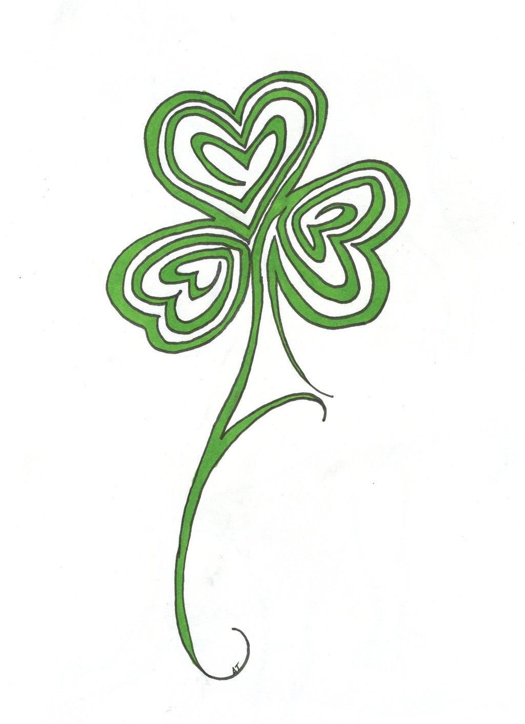 Simple Shamrock Tattoo Design