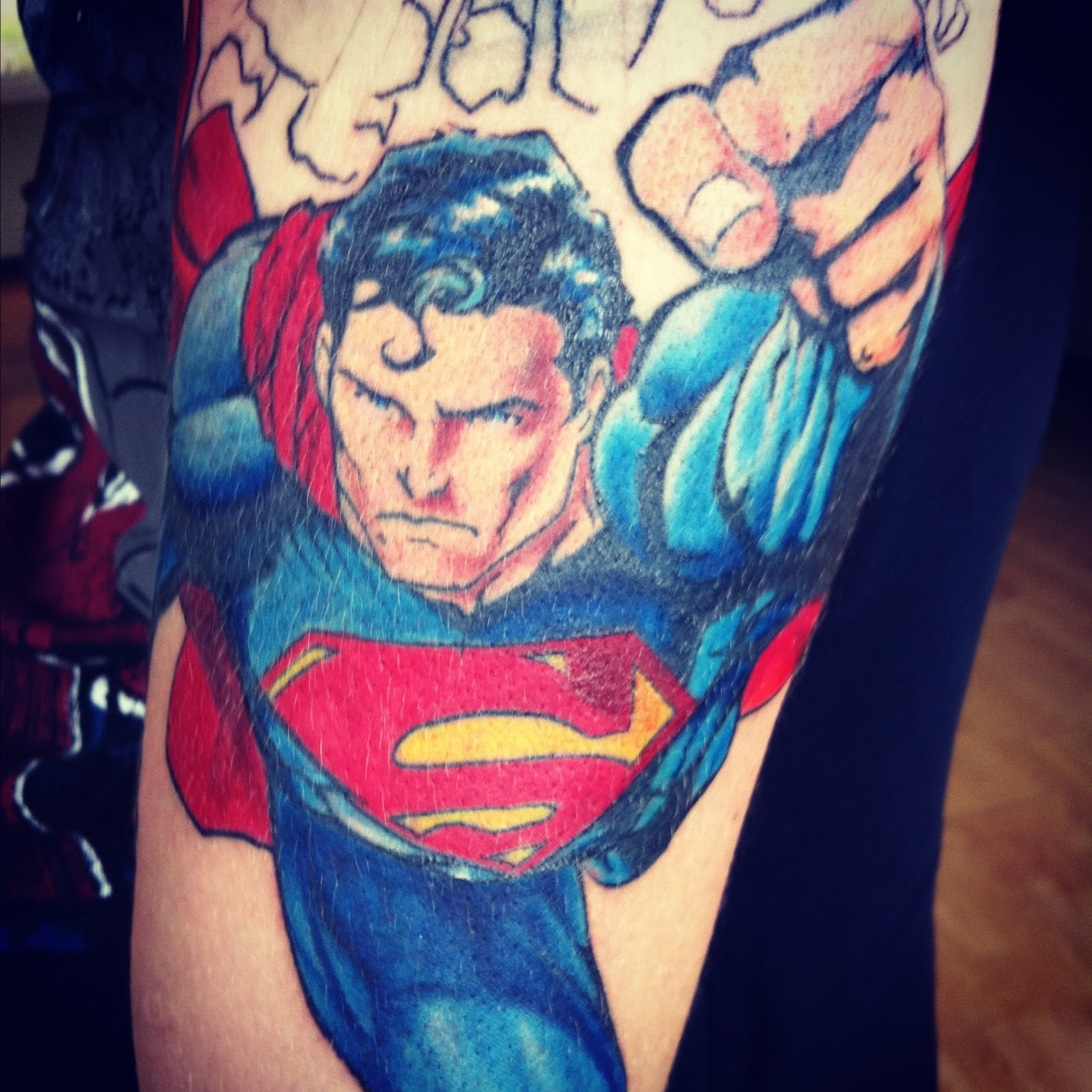 superman tattoos designs ideas and meaning tattoos for you. Black Bedroom Furniture Sets. Home Design Ideas