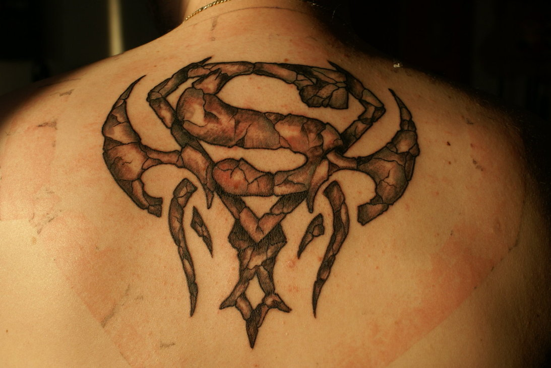 Tribal-Tattoos Superman-Tribal-Tattoo