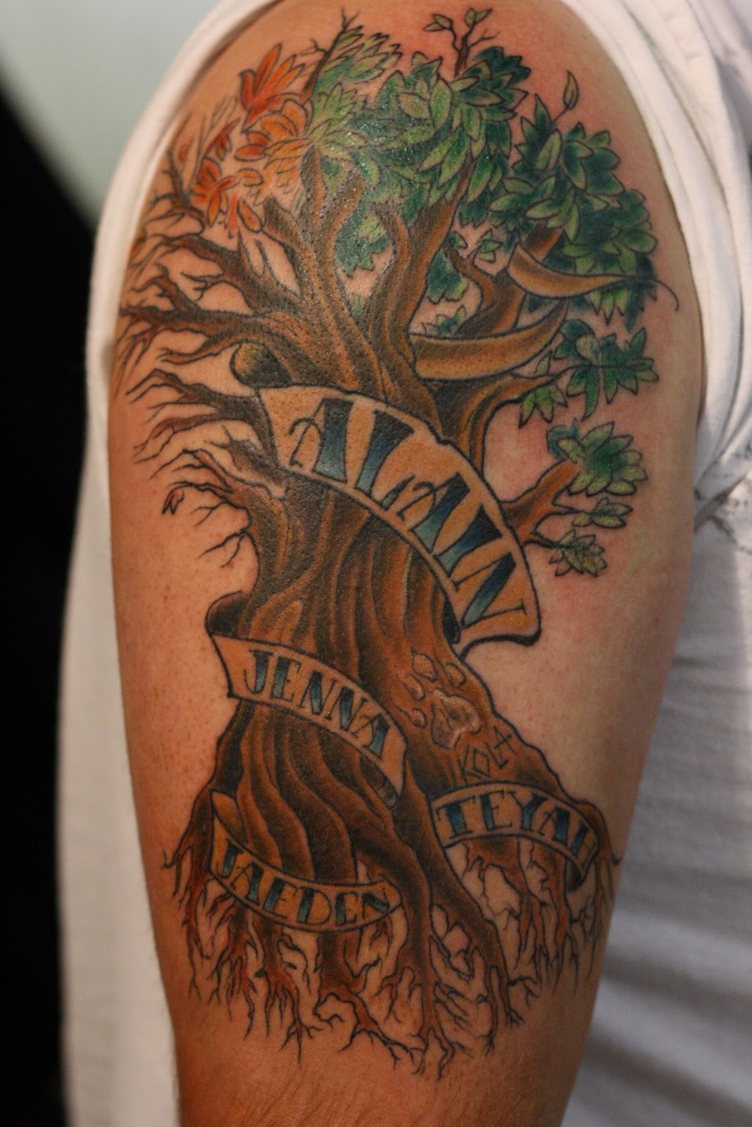 Family Tree Tattoos Designs, Ideas and Meaning | Tattoos ...