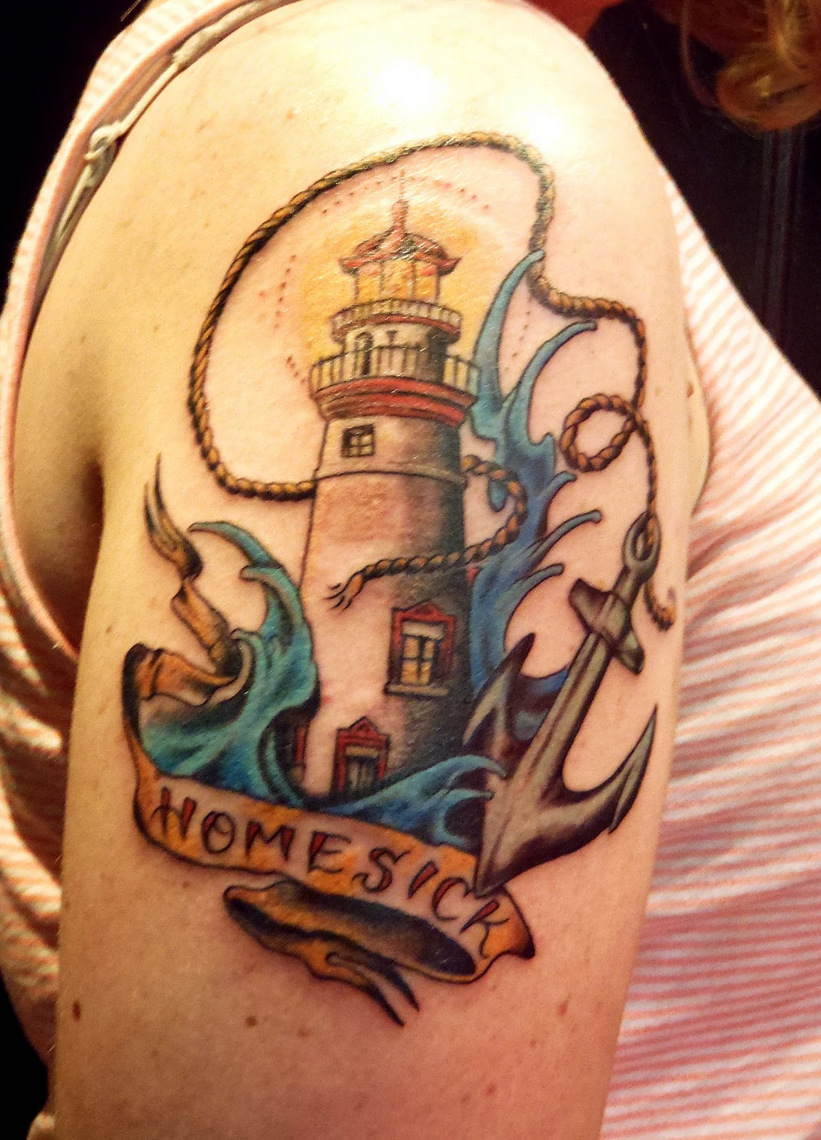 lighthouse tattoos designs ideas and meaning tattoos for you. Black Bedroom Furniture Sets. Home Design Ideas