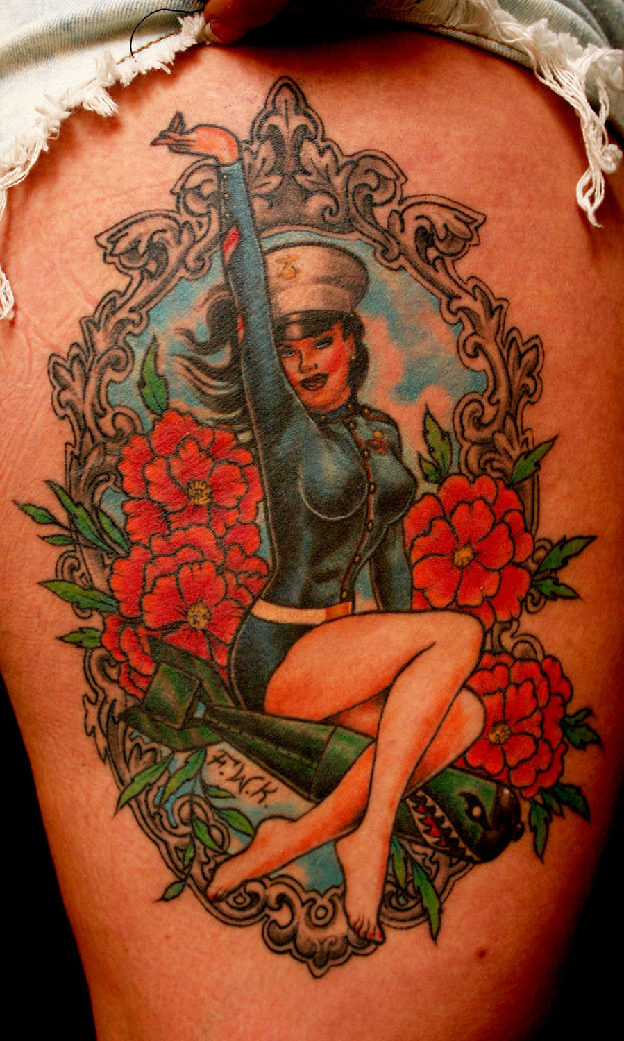 Pin up tattoos designs ideas and meaning tattoos for you for Traditional pin up tattoos