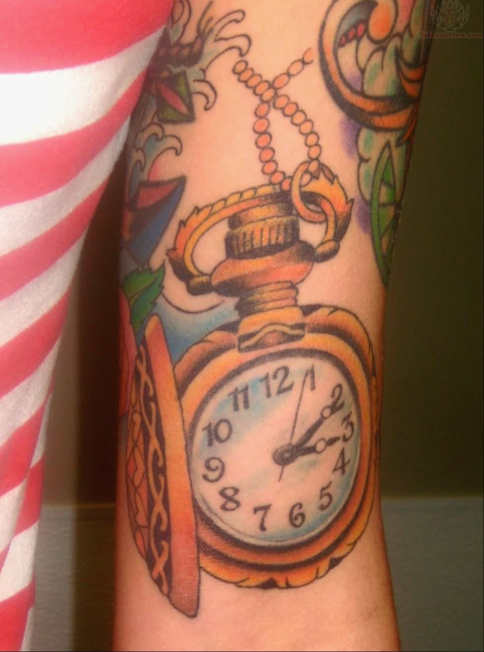 Pocket Watch Tattoos Designs, Ideas and Meaning | Tattoos ...