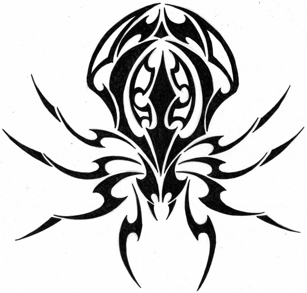 Tribal-Tattoos Tribal-Spider-Tattoo-1024x979