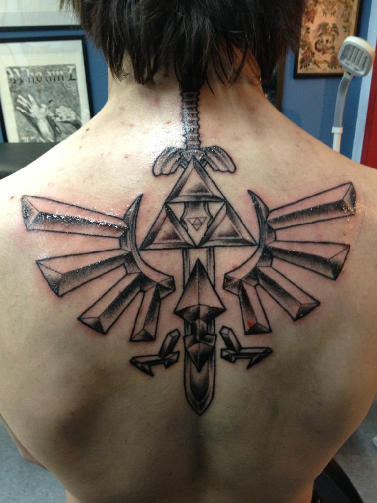 Triforce Back Tattoos