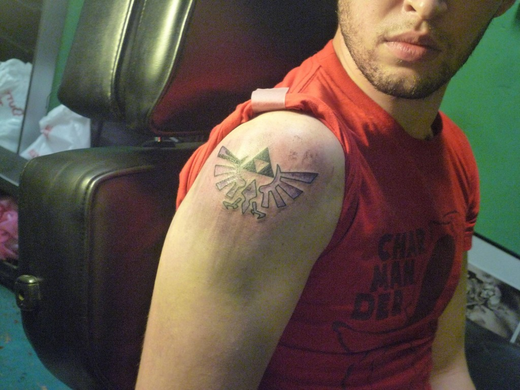 Triforce Sleeve Tattoo