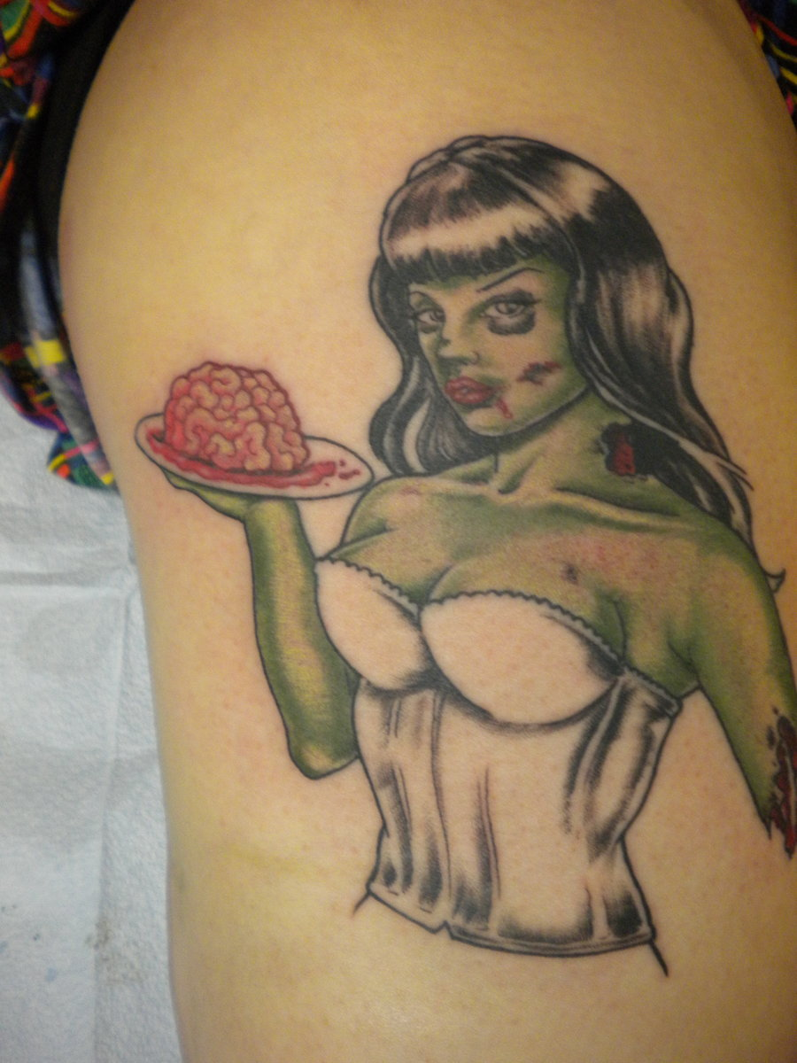 Zombie tattoos designs ideas and meaning tattoos for you for Pin up tattoo flash