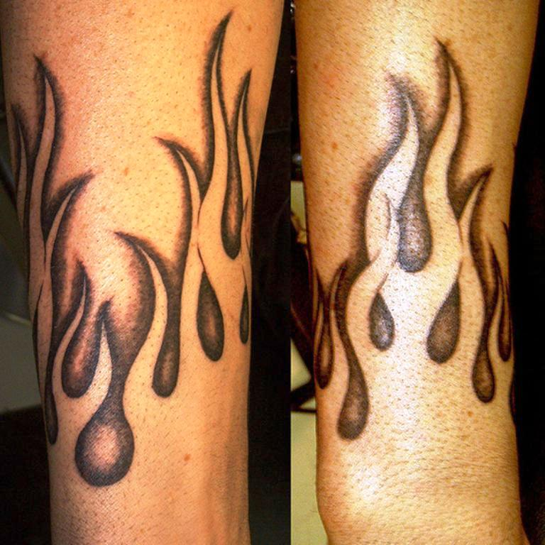 Flame tattoos designs ideas and meaning tattoos for you for Black and white flame tattoo