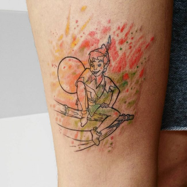 Peter Pan Tattoos Designs, Ideas and Meaning | Tattoos For You