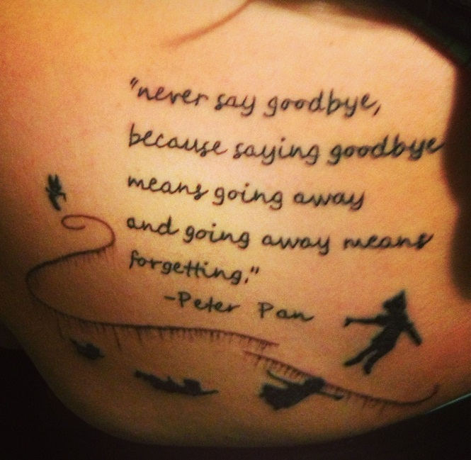 Peter Pan Tattoos Designs, Ideas And Meaning