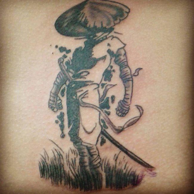 Female Japanese Warrior Tattoos