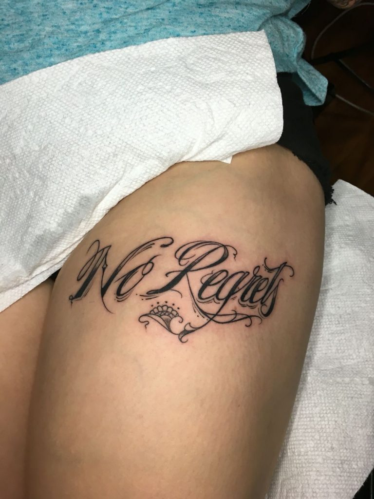 no regrets tattoos designs ideas and meaning tattoos