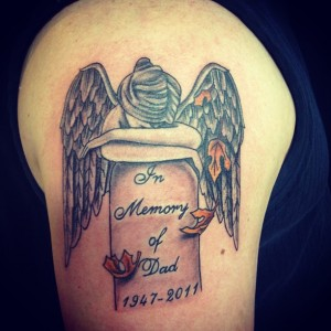 Angel Tombstone Tattoo