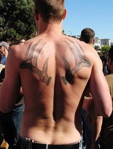 Antler Tattoo on Back