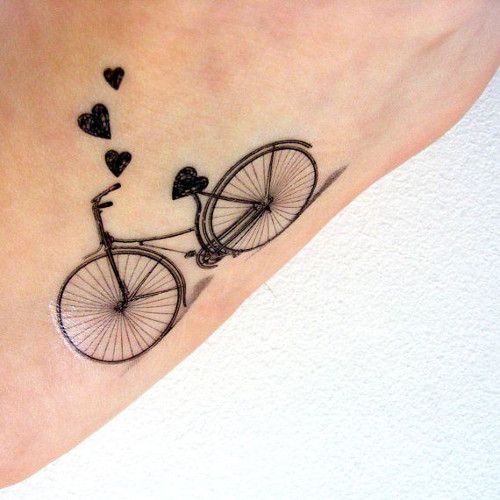 bicycle tattoos designs ideas and meaning tattoos for you
