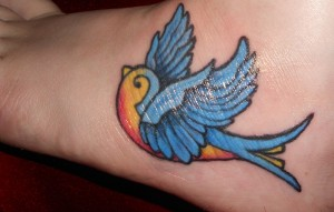 Bluebird Tattoo Pictures