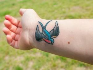 Bluebird Tattoo Wrist