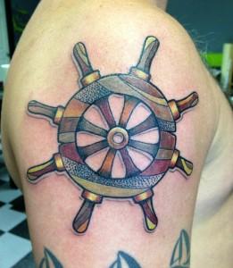 Boat Wheel Tattoo