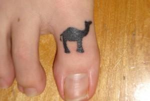 Camel Tattoo on Toe