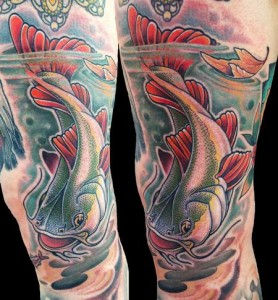 Catfish Tattoo Sleeve