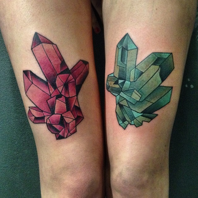 crystal tattoos designs ideas and meaning tattoos for you
