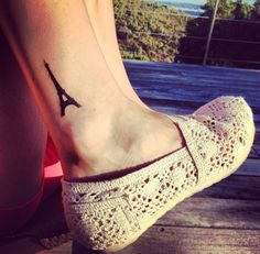 Eiffel Tower Tattoo Foot