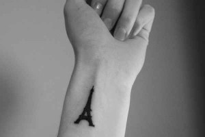 Eiffel Tower Tattoo on Wrist