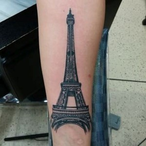Eiffel Tower Tattoos Pictures