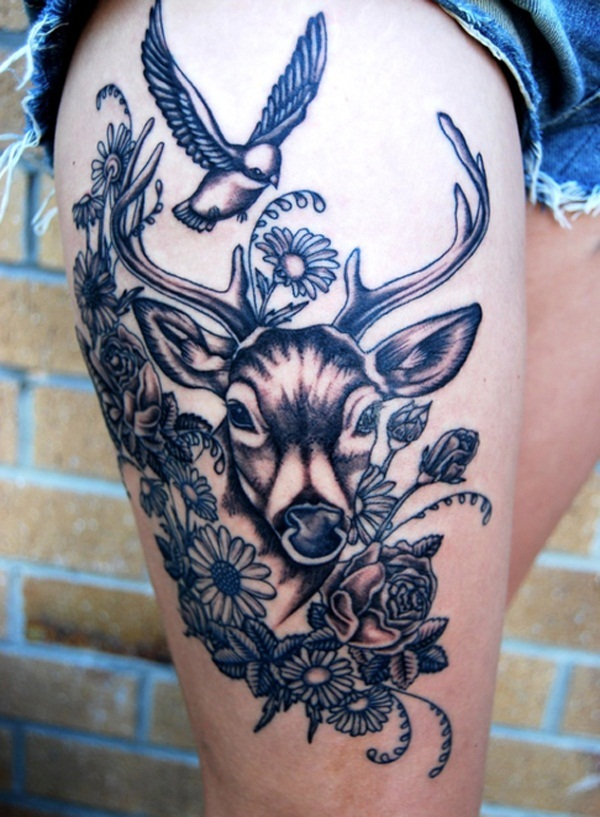 female thigh tattoos designs ideas and meaning tattoos for you. Black Bedroom Furniture Sets. Home Design Ideas
