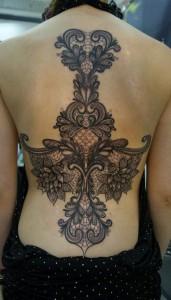 Feminine Back Piece Tattoos