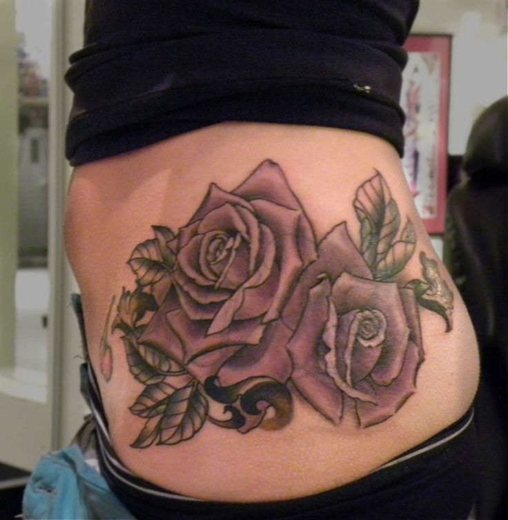flower side hip tattoos - photo #14