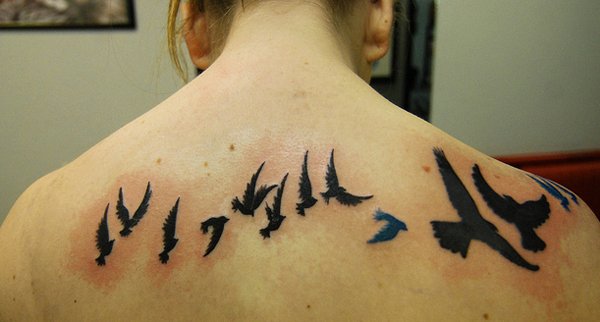 40+ Nice Dandelion Birds Tattoos