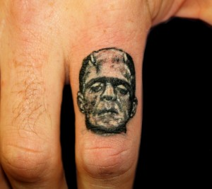 Frankenstein Hand Tattoos