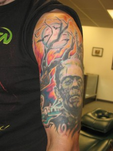 Frankenstein Sleeve Tattoos