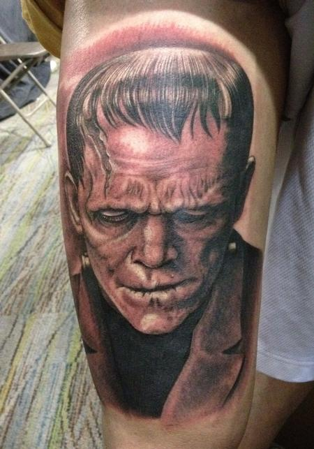 Scary Face Tattoo Designs