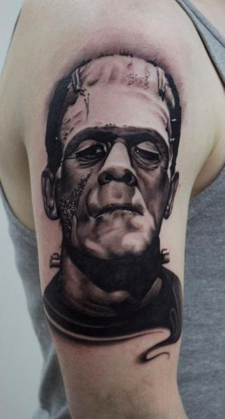 Frankenstein Tattoos Designs, Ideas and Meaning | Tattoos ...  Frankenstein Ta...