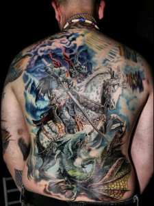 Full Back Piece Tattoo