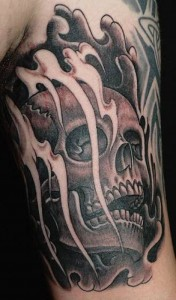 Skull Smoke Tattoos