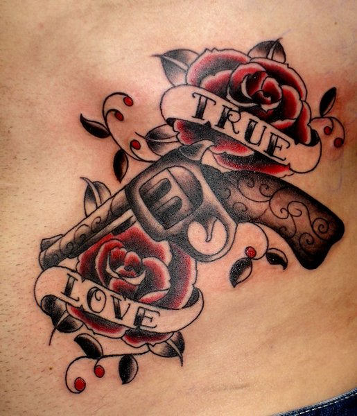 Guns And Roses Tattoos Designs, Ideas And Meaning